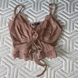 NWT SHEIN Tie Front Cami Top